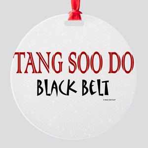 Black Belt 12 C Round Ornament