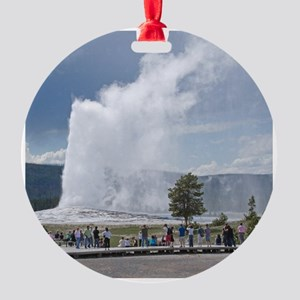 Yellowstone Faithful Round Ornament