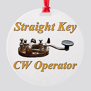 straight key cw op Round Ornament