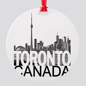 Toronto Skyline Round Ornament