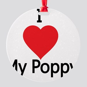 I love my Poppy Round Ornament