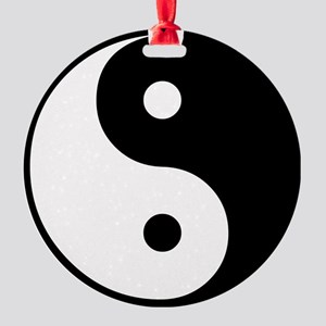Yin and Yang Round Ornament