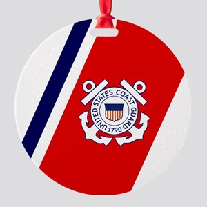 USCG-Tile-2 Round Ornament