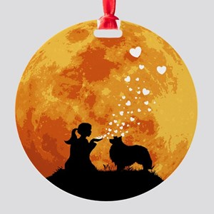 Shetland-Sheepdog22 Round Ornament