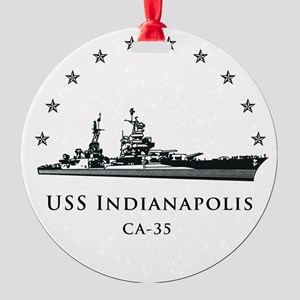 USS Indianapolis Image Round Round Ornament