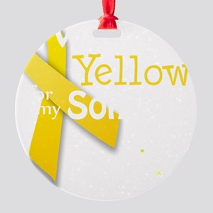 trans_i_wear_yellow_for_my_son_upda Round Ornament