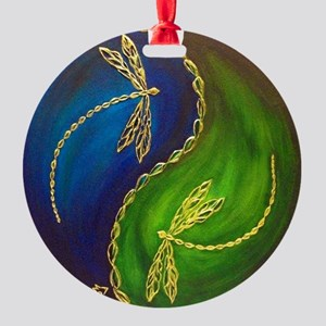 Balance: Dragonfly Round Ornament