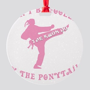 old tae kwon do pink(blk) Round Ornament