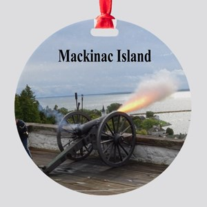 Cannon Fire Round Ornament