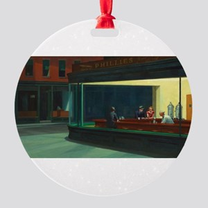 Nighthawks - Edward Hopper Round Ornament