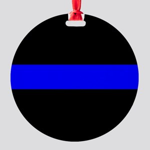 Police: The Thin Blue Line Round Ornament