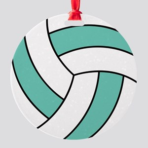 volleyball belly Round Ornament