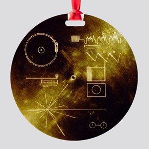 Voyager's Gold Record Round Ornament