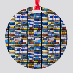 Stained Glass Window Round Ornament