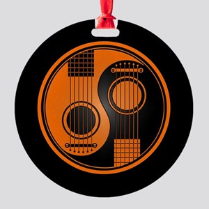 Orange Yin Yang Acoustic Guitars with Black Back R