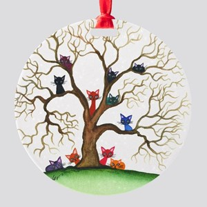Fayetteville Stray Cats Round Ornament