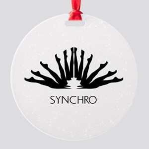 Synchronized Swimming Round Ornament
