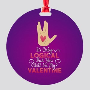 Logical Valentine Round Ornament