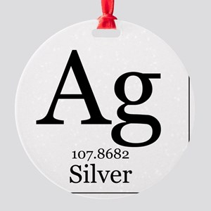 Elements - 47 Silver Round Ornament