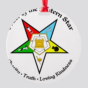 OES Charity Truth Loving Kindness Round Ornament