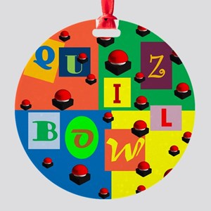Quiz Bowl Round Ornament
