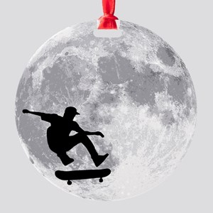 moon Round Ornament