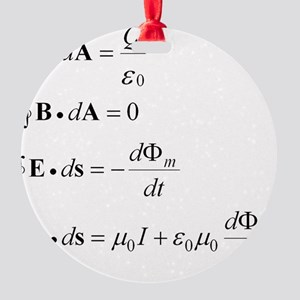 maxwells equation Round Ornament