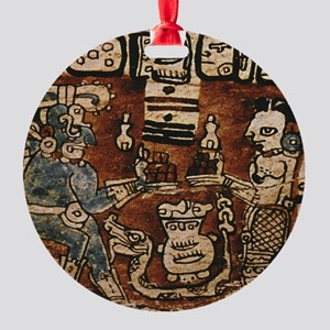 MAYAN COCOA CEREMONY Round Ornament