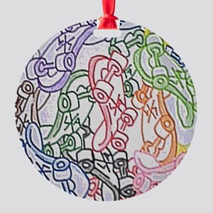 LAX skateboards by bjork all over m Round Ornament