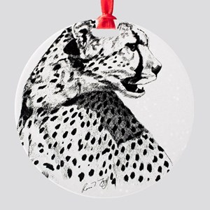 Cheetah_5-5x4-25_horiz Round Ornament