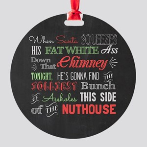 Griswold Nuthouse Chalkboard Round Ornament