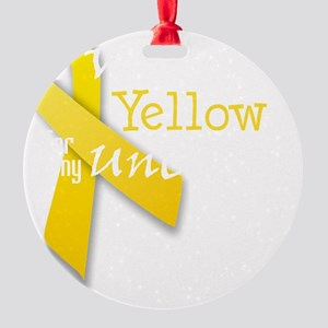 trans_i_wear_yellow_for_my_uncle Round Ornament