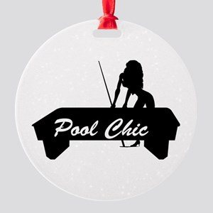 pool chic copy Round Ornament