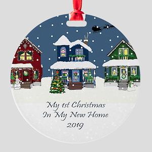 White House Christmas Ornament 2019.New Home Christmas Ornaments Cafepress
