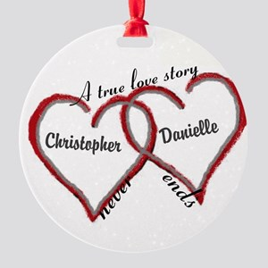 A true love story: personalize Ornament