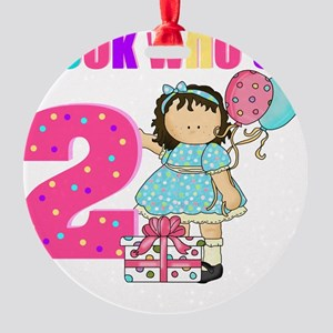 birthday 2 girl Round Ornament