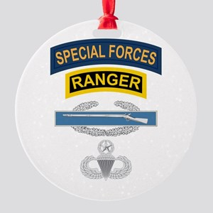 SF Ranger CIB Airborne Master Round Ornament