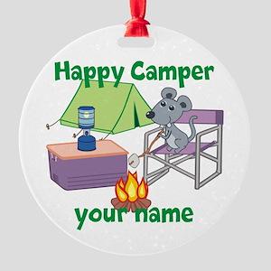 Custom Happy Camper Mouse Ornament