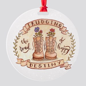 Trudging The Road Round Ornament