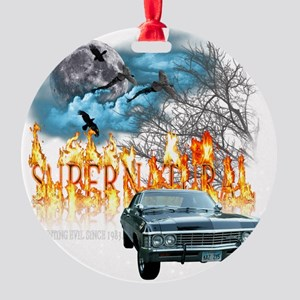 SUPERNATURAL 1967 chevrolet impala  Round Ornament