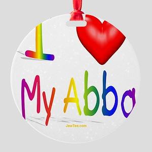 I Love My Abba flat Round Ornament