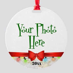 Christmas Custom Photo Round Ornament