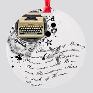writer2 Round Ornament