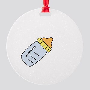 Party Crib White Round Ornament