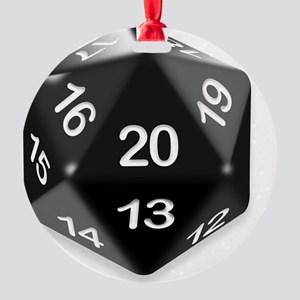 d20 t-shirt Round Ornament