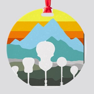 mountain music color transparent Round Ornament