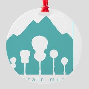 mountain music transparent Round Ornament