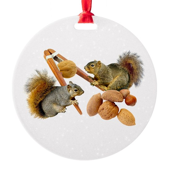 Squirrels Cracking Nuts