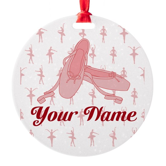 Personalized Pink Ballet Slippers Ballerina
