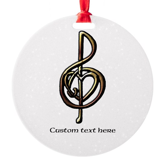 Customize this Metallic Musical Treble Clef Art